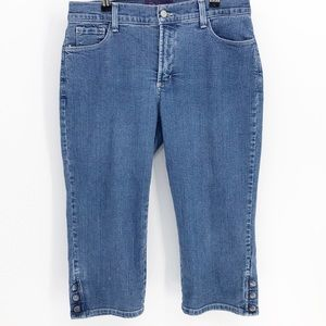 NYDJ Cropped Jeans with Button Detail Sz 10 P